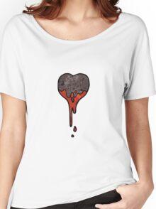 cartoon black heart symbol Women's Relaxed Fit T-Shirt