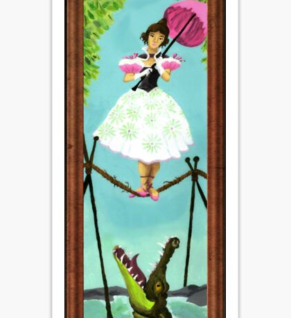 Tightrope Girl Sticker