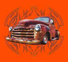 Pinstripe Rust Truck Kids Clothes