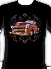 Pinstripe Rust Truck T-Shirt