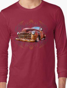 Pinstripe Rust Truck Long Sleeve T-Shirt