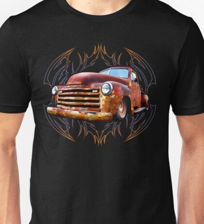 Pinstripe Rust Truck Unisex T-Shirt