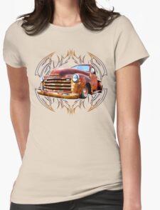 Pinstripe Rust Truck Womens Fitted T-Shirt
