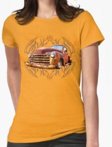 Pinstripe Rust Truck Womens T-Shirt