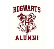 Hogwarts Alumni | Harry Potter Hogwarts Quote Shirt, Hogwarts Seal, Hogwarts Crest Art Print