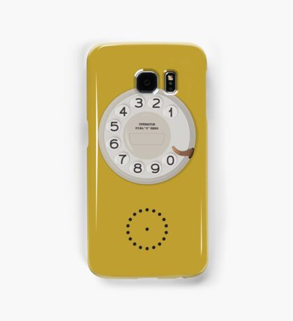 Vintage Dial Phone Yellow Samsung Galaxy Case/Skin