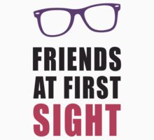 Friends At First Sight, Pink and Black Ink | Hipster Glasses, Best Friends Stuff Kids Tee