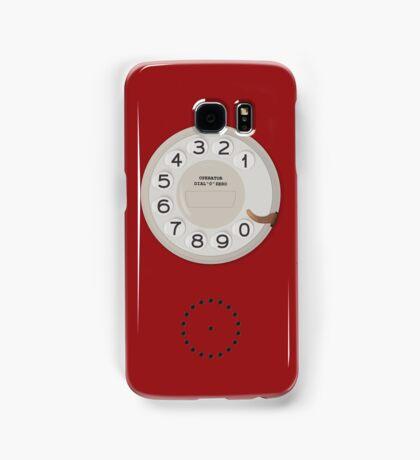 Vintage Dial Phone Red Samsung Galaxy Case/Skin