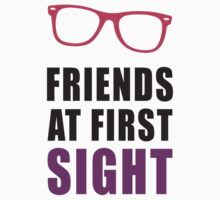 Friends At First Sight, Pink and Black Ink | Hipster Glasses, Best Friends Stuff Baby Tee