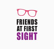 Friends At First Sight, Pink and Black Ink | Hipster Glasses, Best Friends Stuff Tank Top