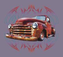 Pinstripe Rust Truck-a Kids Tee