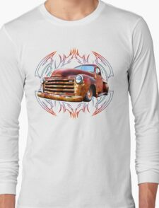 Pinstripe Rust Truck-a Long Sleeve T-Shirt