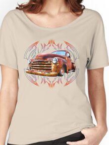 Pinstripe Rust Truck-a Women's Relaxed Fit T-Shirt