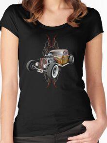 Pinstripe RAT - Full Throttle Women's Fitted Scoop T-Shirt