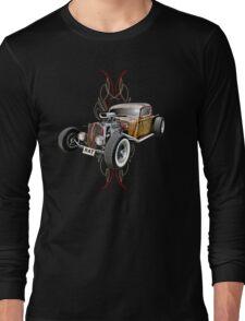 Pinstripe RAT - Full Throttle Long Sleeve T-Shirt