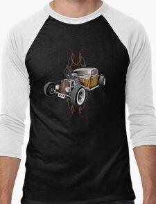 Pinstripe RAT - Full Throttle Men's Baseball ¾ T-Shirt