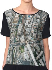 Japan - Aerial View of Central Tokyo Chiffon Top