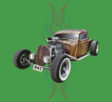 Pinstripe RAT - Full Throttle-a Kids Tee