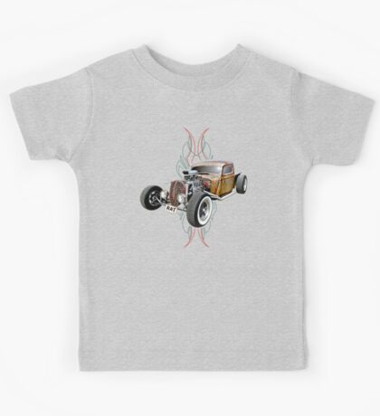 Pinstripe RAT - Full Throttle-a Kids Tee