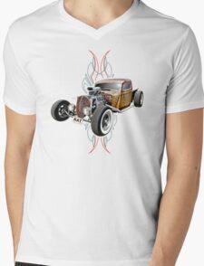 Pinstripe RAT - Full Throttle-a Mens V-Neck T-Shirt