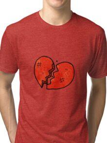 broken heart symbol Tri-blend T-Shirt