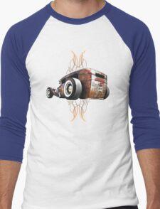 Pinstripe RAT - Rear View Men's Baseball ¾ T-Shirt