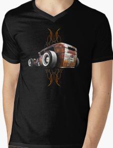 Pinstripe RAT - Rear View Mens V-Neck T-Shirt