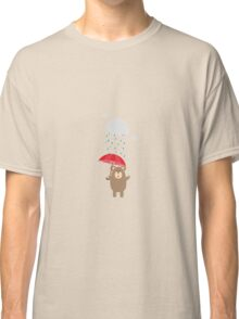 Brown Bear with Umbrella Classic T-Shirt