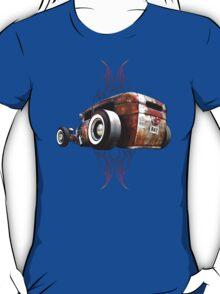 Pinstripe RAT - Rear View-a T-Shirt