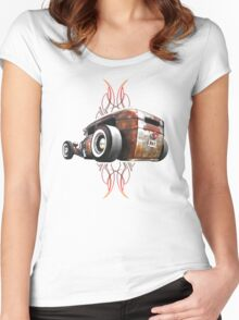 Pinstripe RAT - Rear View-a Women's Fitted Scoop T-Shirt