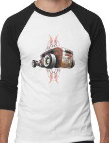 Pinstripe RAT - Rear View-a Men's Baseball ¾ T-Shirt