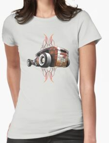 Pinstripe RAT - Rear View-a Womens Fitted T-Shirt