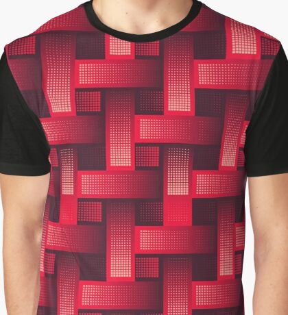 Seamless red  industrial pattern Graphic T-Shirt