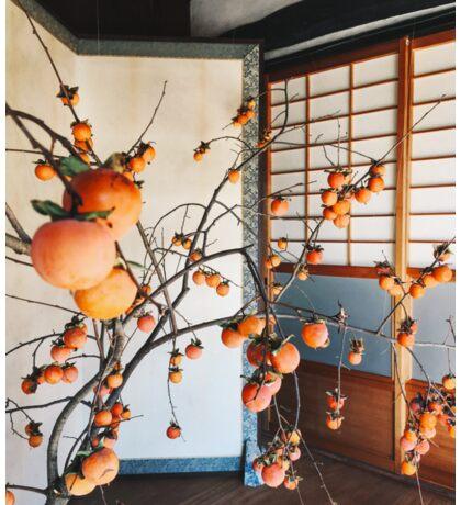 Japanese Aesthetics - Persimmon Flower Arrangement Sticker