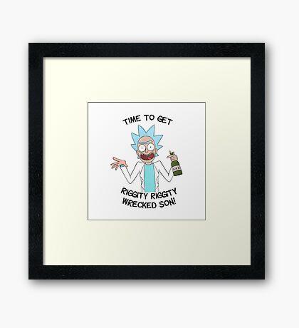Ricky and Morty Framed Print