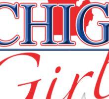 Michigan Girl - Red, White & Blue Graphic Sticker
