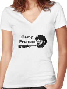 Camp Froman Women's Fitted V-Neck T-Shirt