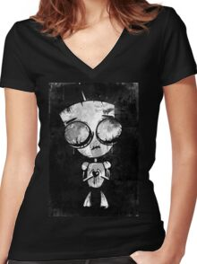 INVADER GIR - FANART by Mien Wayne Women's Fitted V-Neck T-Shirt