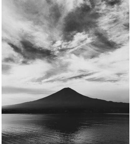 Japan - Lake Kawaguchi With Mount Fuji in Black and White Sticker