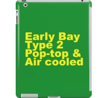 Early Bay Pop Type 2 Pop Top Yellow iPad Case/Skin