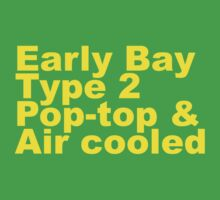 Early Bay Pop Type 2 Pop Top Yellow Kids Clothes