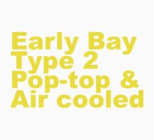 Early Bay Pop Type 2 Pop Top Yellow One Piece - Short Sleeve