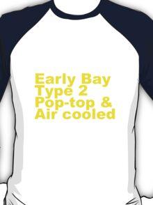Early Bay Pop Type 2 Pop Top Yellow T-Shirt