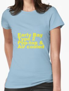 Early Bay Pop Type 2 Pop Top Yellow Womens Fitted T-Shirt