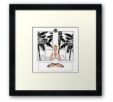 Yoga Girl..... Framed Print