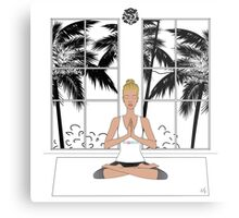 Yoga Girl..... Metal Print