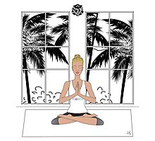 Yoga Girl..... Photographic Print