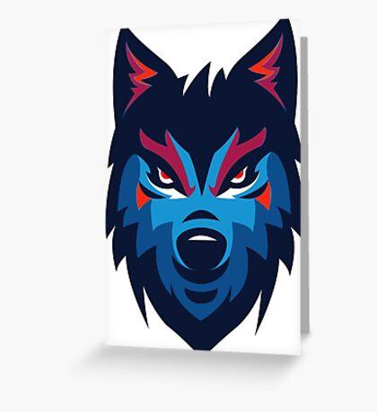 Wolf le loup de france Greeting Card