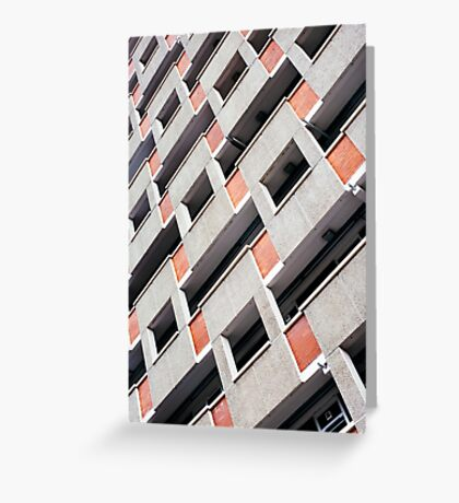 Brutalist Building Facade Greeting Card