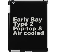 Early Bay Pop Type 2 Pop Top Grey iPad Case/Skin